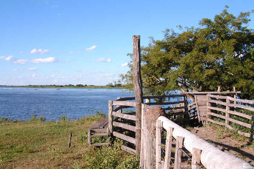 embarcadero of ranch on Rio Paraguay