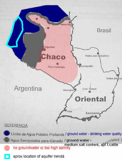 map ground water Chaco