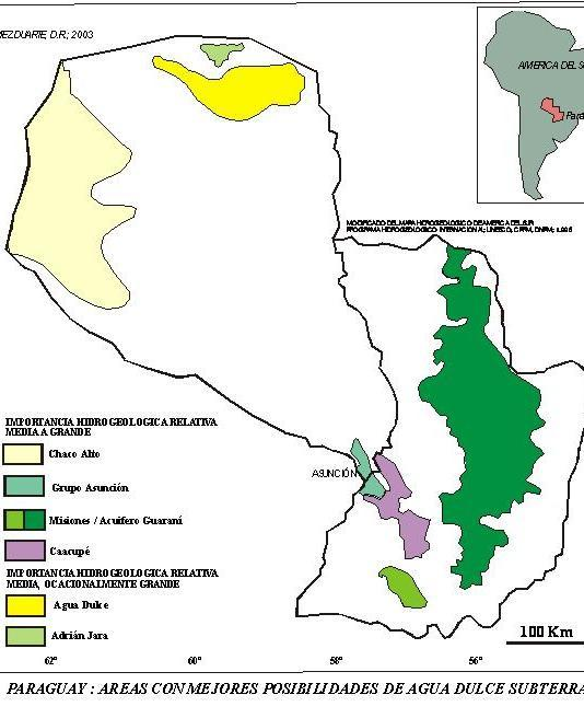 map aquifers Paraguay Chaco