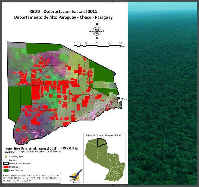 map Paraguay deforestation