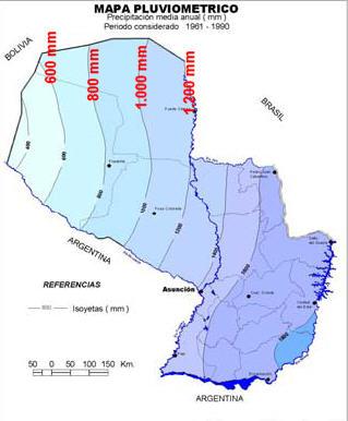 precipitaciones Chaco Paraguay