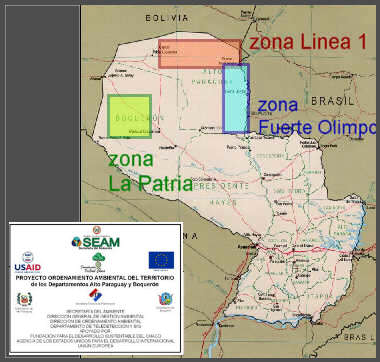 map Paraguay Chaco development zones